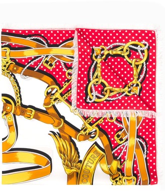 Moschino Couture print scarf