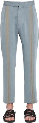 Ann Demeulemeester Pleated Viscose Cropped Pants