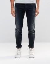 Replay Thyber Slim Jeans Power Stretch Dark Distressed Wash