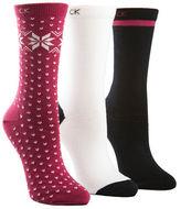 Calvin Klein Three-Pair Snowflake Crew Socks
