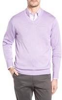 Peter Millar Men's Silk Blend V-Neck Sweater
