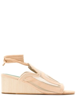 Blue Bird Shoes Panelled Wedge Sandals