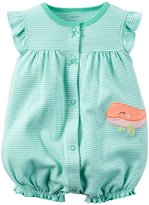 Carter's Baby Girls Cotton 1-piece Snap-Up Romper