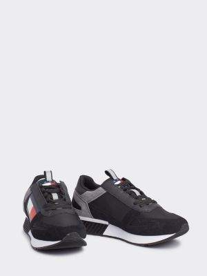 Tommy Hilfiger Lace-Up Contrast Panel Trainers