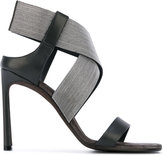 Brunello Cucinelli chain strap sandals - women - Calf Leather/Calf Suede/Metal (Other)/Leather - 39