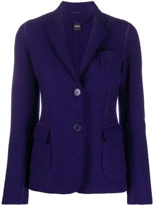Aspesi Single-Breasted Wool Blazer