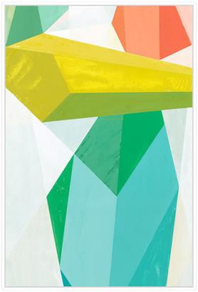 Jonathan Bass Studio Glass Vase 2, Decorative Framed Hand Embellished C