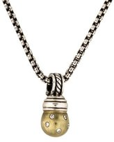 David Yurman Diamond Sphere Pendant Necklace