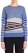 Giorgio Armani Cashmere-Blend Striped Top