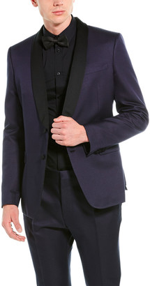 Valentino 2Pc Wool & Silk-Blend Suit With Pleated Pant