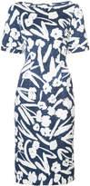 Oscar de la Renta floral pencil dress