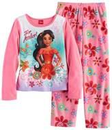 "Disney Disney's Elena of Avalor ""For Avalor!"" Girls 4-8 Fleece Tee & Bottoms Pajama Set"