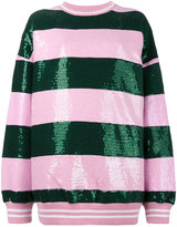 Ashish Striped Sequin Embellished Sweatshirt