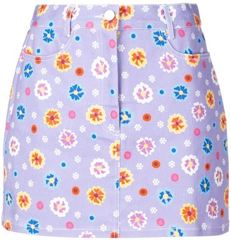 Lhd Floral Print A-Line Skirt