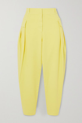 Stella McCartney Stretch-cotton Twill Tapered Cargo Pants - Yellow