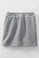 Classic Girls Plus Quilted Pull-On Skort-Silver Shimmer