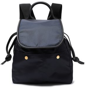 Marni Swing Leather-trimmed Shell Backpack