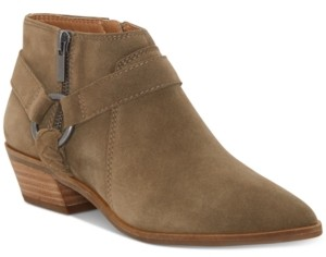 Lucky Brand Women's Enitha Leather Booties Women's Shoes