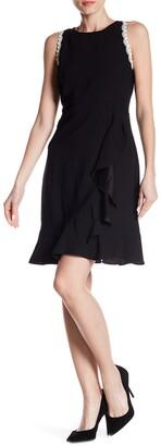 Nanette Lepore Cascading Ruffle Sleeveless Dress