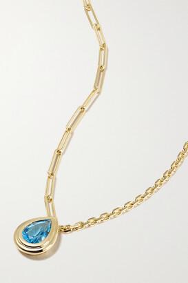 Yvonne Léon 18-karat Gold Topaz Necklace - one size