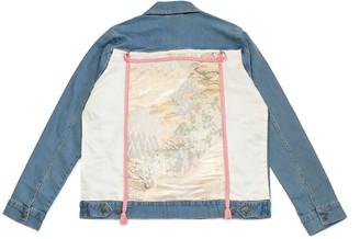 4649.Rec Pink Forest - Custom Denim Jacket