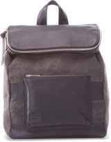 Toms Black Multi Texture Mix Leather Endeavour Backpack