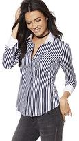 New York & Co. 7th Avenue Design Studio - Madison Stretch Shirt - French-Cuff - Stripe