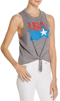 Chaser Tie-Front Graphic Muscle Tee - 100% Exclusive