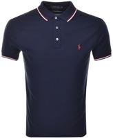 Ralph Lauren Tipped Custom Polo T Shirt Navy