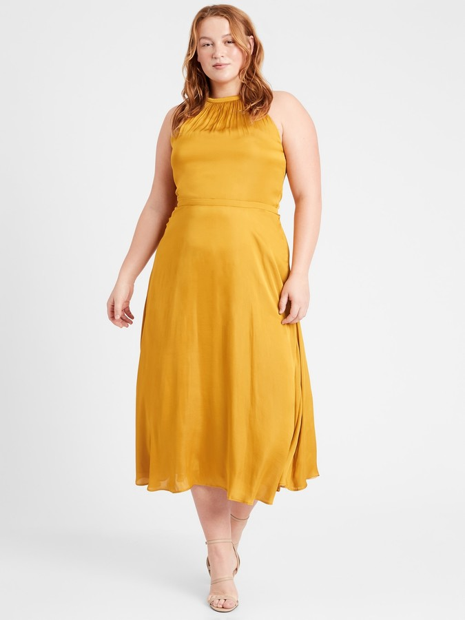 Banana Republic Satin Midi Dress