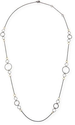 Armenta Old World Long Alternating Link-Chain Necklace