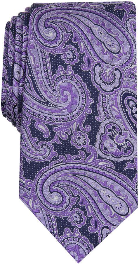 8ecb52f390c7 Purple Paisley Tie - ShopStyle