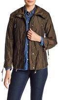 Cole Haan Front Zip Drawstring Jacket (Petite)