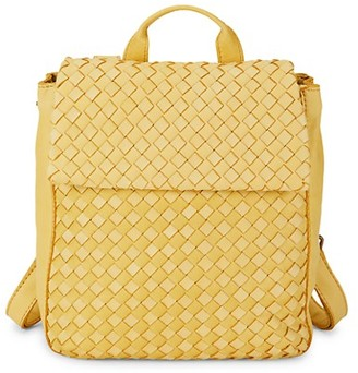 American Leather Co. Liberty Basket-Weave Leather Backpack