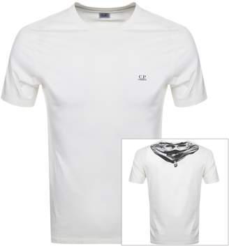C.P. Company C P Company Logo T Shirt Cream