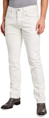 Tom Ford Men's Straight-Fit Denim Pants, Beige