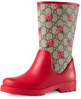Gucci Rainy GG Rain Boot, Youth
