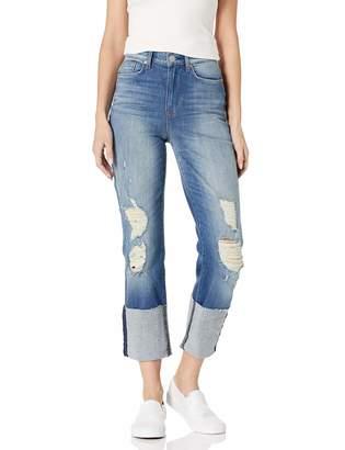 Hudson Jeans Women's Zoeey High Rise Deep Cuff Straight Crop 5 Pocket Jean