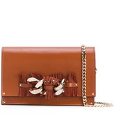 Casadei chain fringe strap shoulder bag - women - Chamois Leather/Nappa Leather/Kid Leather - One Size