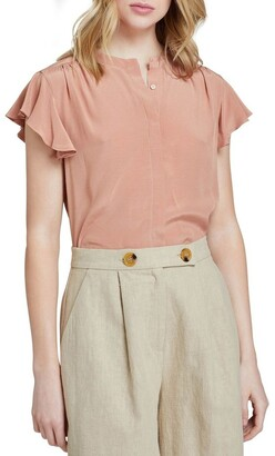 Oxford Freya Short Sleeve Blouse Lt