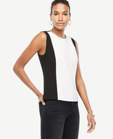 Ann Taylor Petite Colorblock Shell