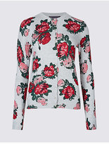 M&S Collection Floral Print Cardigan