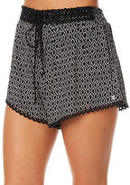 Volcom New Women's Simple Things Short Lace Rayon Black