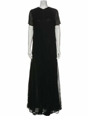 Reformation Crew Neck Long Dress w/ Tags Black