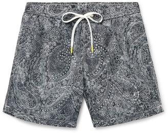 Hartford Slim-Fit Mid-Length Paisley-Print Swim Shorts