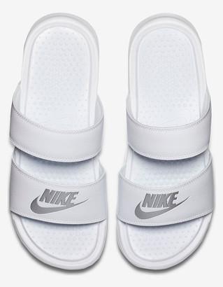 Nike Benassi Duo Ultra Womens White Slide Sandals