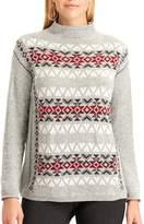 Chaps Petite Fairisle Mockneck Sweater