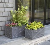The Well Appointed House X-Box Trough Garden Planters-Set of Two