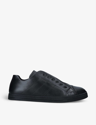 Fendi Cross-over leather mid-top trainers
