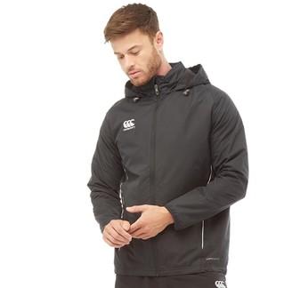 Canterbury of New Zealand Mens Team Fleece Lined Jacket Black/White